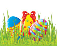 Easter painted eggs in grass Royalty Free Stock Photo