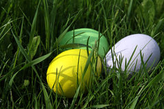 The Easter painted eggs Stock Photography
