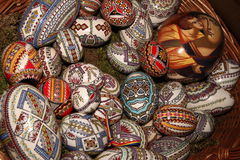 Easter painted eggs Royalty Free Stock Photography