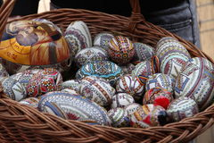 Easter painted eggs Royalty Free Stock Photos
