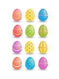 Easter painted eggs Stock Photo