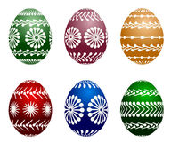 Easter painted vector eggs Stock Photos