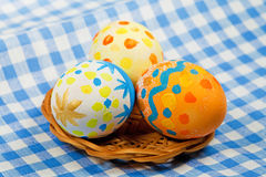 Easter painting eggs stock images