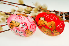 Easter painting eggs Royalty Free Stock Image