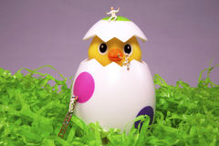 Easter Egg Painting Surprise stock image