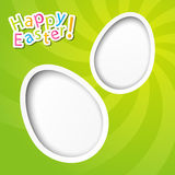 Easter paper card Stock Photography