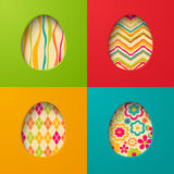 Easter paper cards with egg. Stock Images