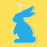 Easter paper decoration in the form of bunny. Easter bunny  Stock Photography