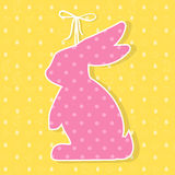 Easter paper decoration in the form of bunny. Easter bunny Stock Image
