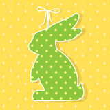 Easter paper decoration in the form of bunny. Easter green bunny Royalty Free Stock Image