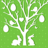 Easter paper decoration in form of Easter tree with eggs  Stock Photography
