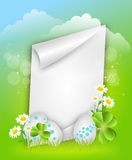 Easter paper sheet background Royalty Free Stock Photos
