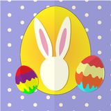 Easter papercut postcard. Vector illustration Stock Images