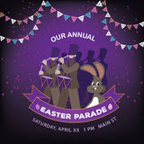 Easter parade ad background template Stock Photo