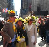 Easter Parade Hats Spring Colors New York City Royalty Free Stock Image