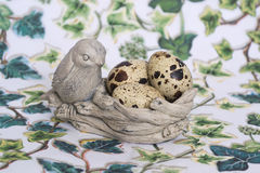 About bird nest. Easter paraphernalia. About bird nest Royalty Free Stock Photo