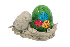 Easter Holiday. Easter paraphernalia. White background Royalty Free Stock Images