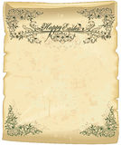 Easter parchment royalty free stock photo