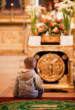 Easter, parishioners of the Orthodox Church. Royalty Free Stock Photos