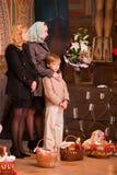 Easter, parishioners of the Orthodox Church. Stock Photo