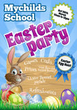Easter Party Flier Stock Photo