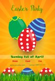 Easter Party Flyer Stock Photo