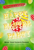 Easter Party Flyer Template stock photos