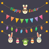 Easter party light bulbs Royalty Free Stock Photography