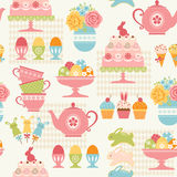 Easter party pattern Stock Images