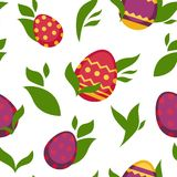 Easter paschal eggs seamless pattern vector background Royalty Free Stock Photography