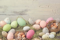 Easter pastel colored decoration Royalty Free Stock Photos