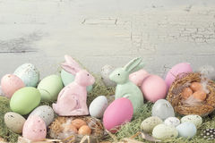 Easter pastel colored decoration Stock Photo