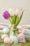 Easter pastel colored decoration Stock Photography