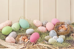 Easter pastel colored decoration Royalty Free Stock Image