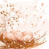 Easter pastel eggs Stock Image
