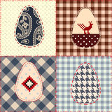 Easter patchwork pattern Stock Photo