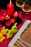 Easter pate food composition Royalty Free Stock Image