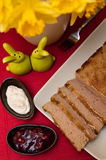 Easter pate food composition Stock Images