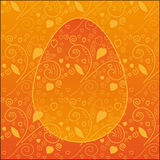Easter Pattern. Easter Egg on a cute background. Vector illustration Stock Photos