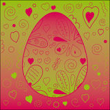 Easter Pattern. Easter Egg on a cute background. Vector illustration Royalty Free Stock Image