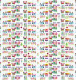Easter pattern. With ornament eggs, train, element for design,  illustration Royalty Free Stock Photo
