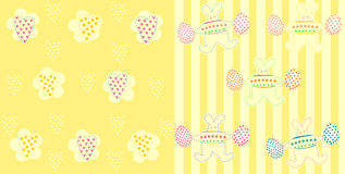 Easter pattern. Vector illustration of Easter pattern with rabbits and eggs Stock Images