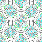Easter Pattern 4. Big and small eggs with flowers on the white background. Vector illustration. EPS10 Stock Photos