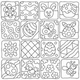 Easter pattern in a children`s style Royalty Free Stock Image