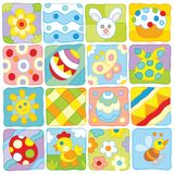 Easter pattern in a children`s style Royalty Free Stock Photos