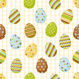 Easter pattern with colorful different eggs Royalty Free Stock Photo