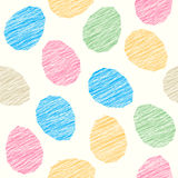 Easter pattern decoration. Easter eggs with Scratched texture. Seamless. Stock Photography