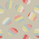 Easter pattern decoration. Easter eggs with Scratched texture. Seamless. Royalty Free Stock Photos