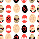 Easter pattern with eggs Royalty Free Stock Photos