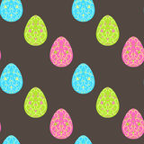 Easter  pattern with eggs. Vector seamless pattern Stock Image